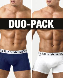 Boxers Basic Duo-Pack - Navy Blue/White - XXL