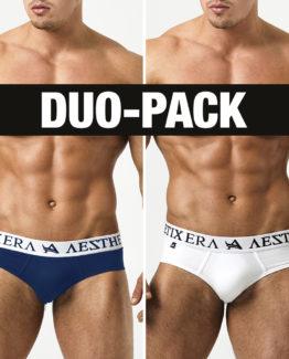 Briefs Basic Duo-Pack - Navy Blue/White - XXL