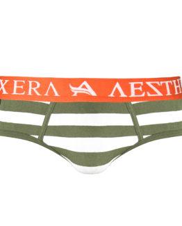Brief Stripe - Army Green - XL