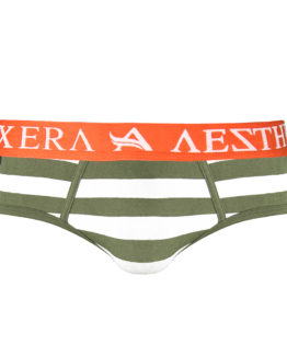 Brief Stripe - Army Green - XXL