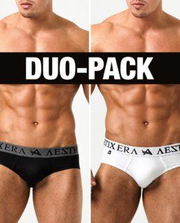 Briefs Basic Duo-Pack - Black/White - S
