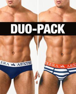 Briefs Stripe Duo-Pack - Navy Blue/Stripe - XXL