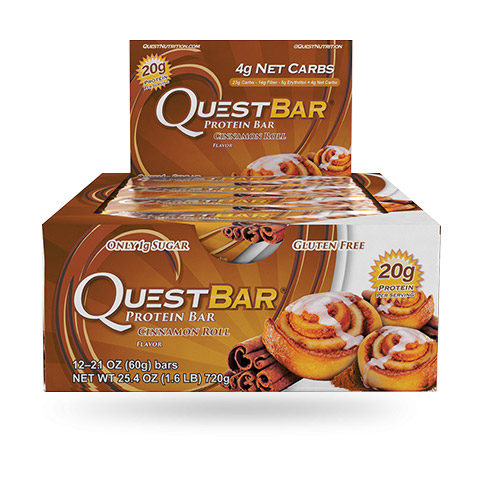 Quest Bar - 1 doos - Cinnamon Roll