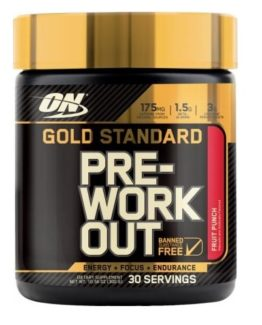 Gold Standard Pre-Workout - 30 servings - Fruit Punch
