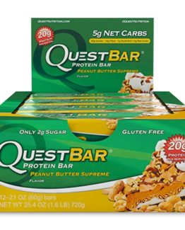 Quest Bar - 1 doos - Peanut Butter Supreme.