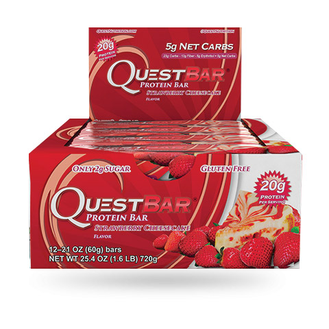 Quest Bar - 1 doos - Strawberry Cheesecake.