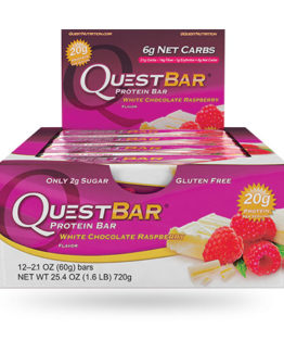 Quest Bar - 1 doos - White Chocolate Raspberry.